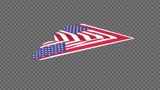 Thumbnail for Paper Airplane - USA Flag - Pack of 2