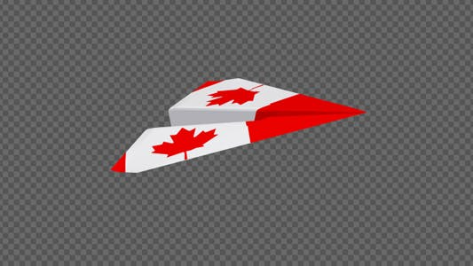 Cover Image for Paper Airplane - Canada Flag - Pack of 2