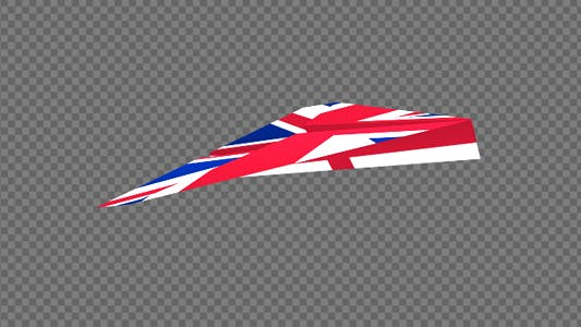 Thumbnail for Paper Airplane - UK Flag - Pack of 2