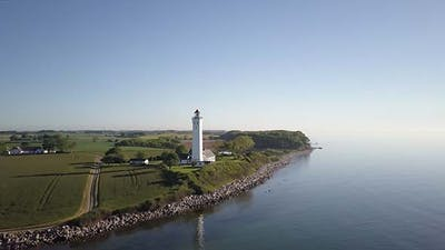 Lighthouse In Keldsnor, Denmark