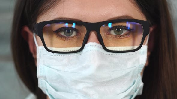 Thumbnail for Shot of a Woman Wearing Glasses, She Is a Nurse or a Doctor
