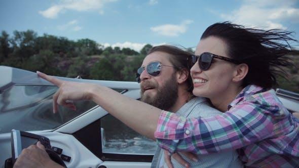 Thumbnail for Couple Enjoying Boat Sailing