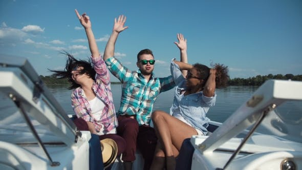 Thumbnail for Three Friends Having Fun on Boat