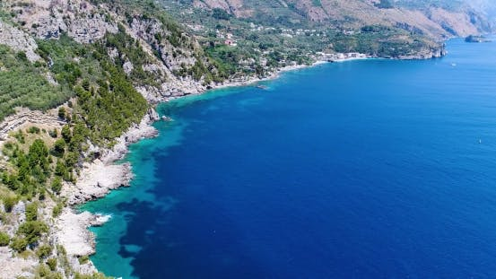 Thumbnail for Mountains Panorama of Amalfi Coast in Italy