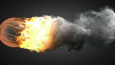 Burning Volleyball Ball