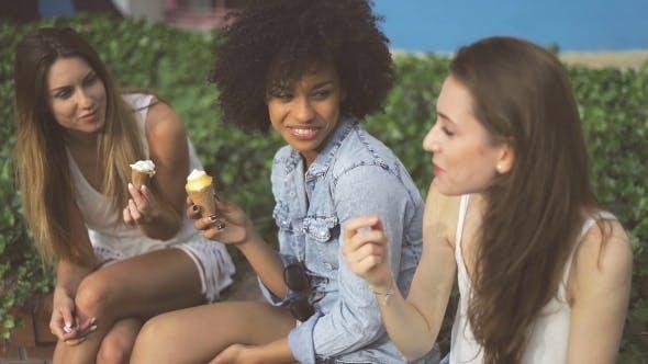 Thumbnail for Lovely Girls Enjoying Ice Cream