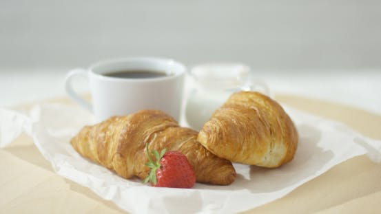 Thumbnail for Croissants Served with Coffee