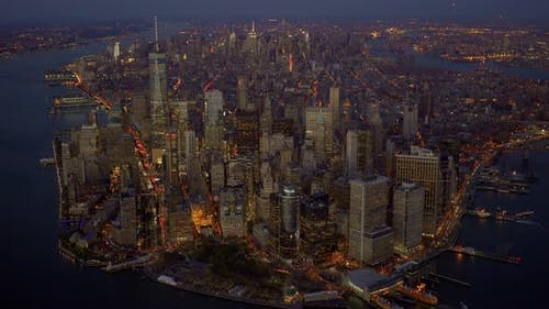 Skyline of Manhattan in New York City