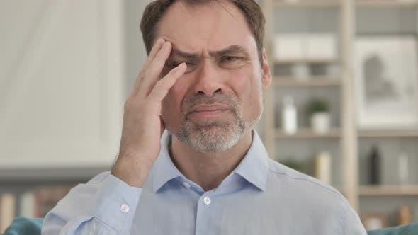 Thumbnail for Headache, Tense Senior Aged Businessman