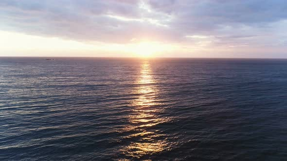 Thumbnail for Sunrise Over The Ocean Aerial Footage