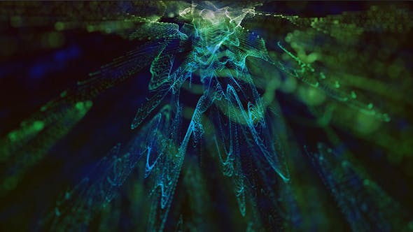 Thumbnail for Blue and Green Particles