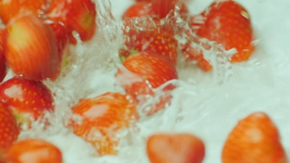 Thumbnail for Strawberries Fall Into the Water