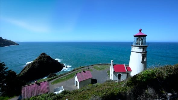 Thumbnail for Heceta Head Lighthouse Oregon Coast Daytime