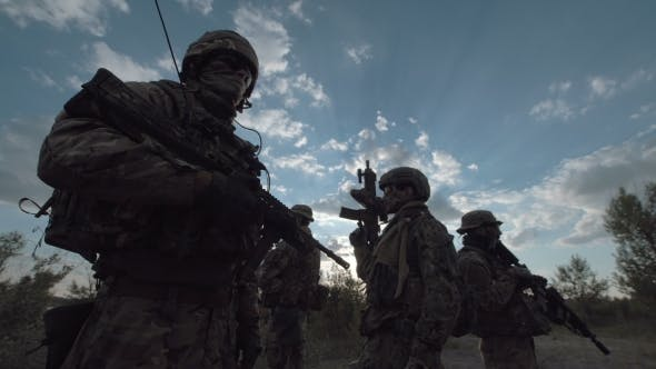 Thumbnail for Military Troop in a Row