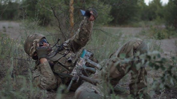 Soldier Taking Selfie