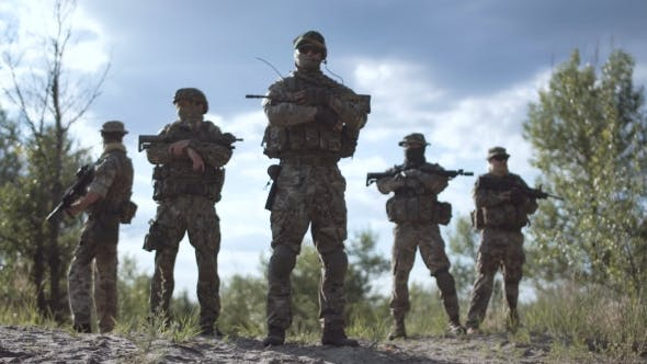 Thumbnail for Cool Group of Soldiers in Nature