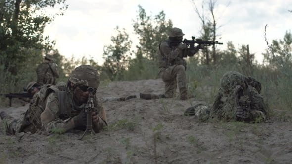Soldiers Prepared To Fight