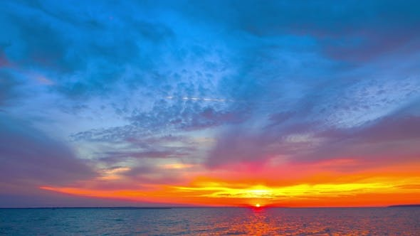 Thumbnail for Sunset Sky over the Lake