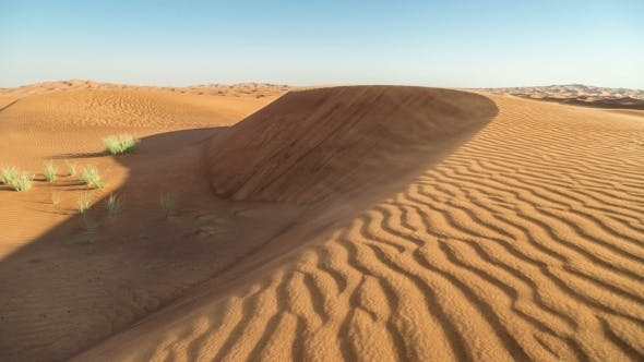 Cover Image for Dunes and Wind in Arabian Desert, Dubai, UAE