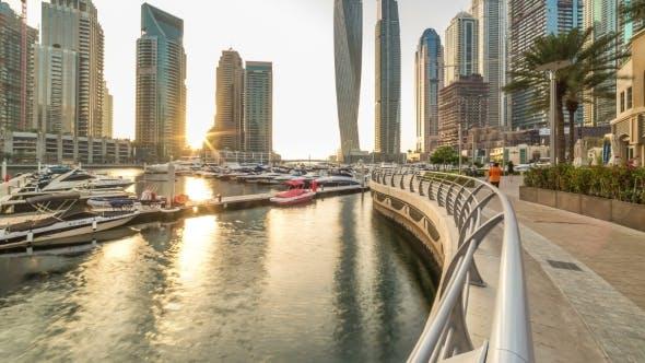 Thumbnail for Beautiful Sunset View  at Dubai Marina Skyscapers in Dubai, UAE