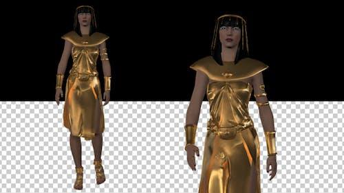 Isis - Ancient Egyptian God - Walking