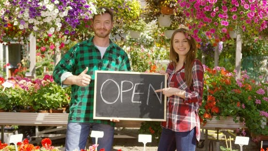Thumbnail for Two Florists with Open Sign