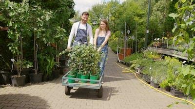 Gardeners with Wagon
