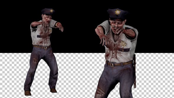 Thumbnail for Zombie Police Walking