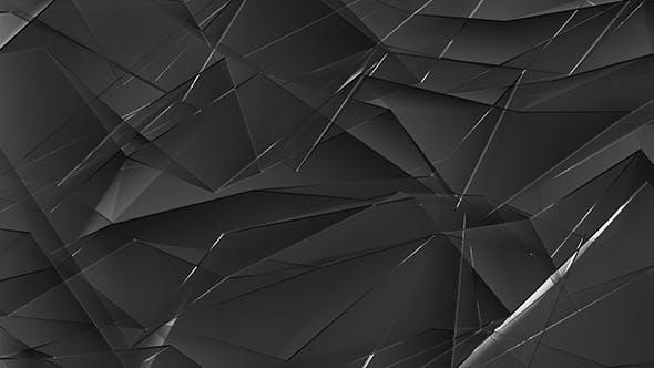 Dark Glass Shiny Polygonal Triangles