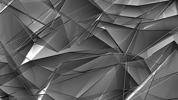 Thumbnail for Shiny Glass Polygonal Triangles