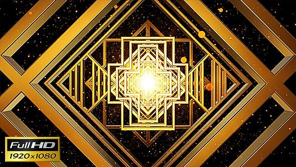 Thumbnail for Art Deco Gold Loop Background