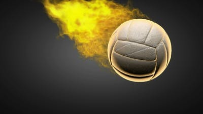 Burning Volleyball Ball
