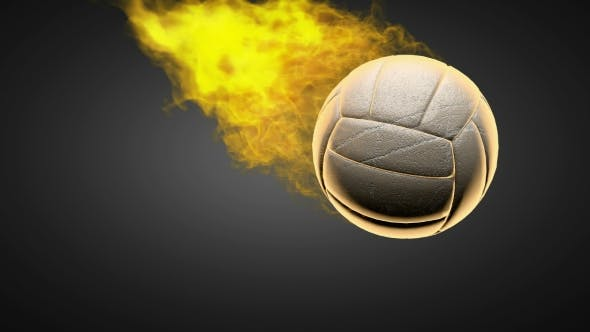 Thumbnail for Burning Volleyball Ball