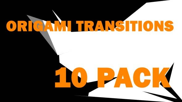 Thumbnail for Origami Style Transitions Pack
