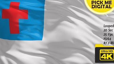 Christian Flag 4K