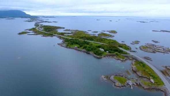 Thumbnail for Atlantic Ocean Road Aerial Footage Norway