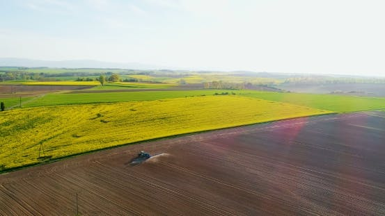 Thumbnail for Aerial View Agricultural Farming Land Growing Vegetable Crops