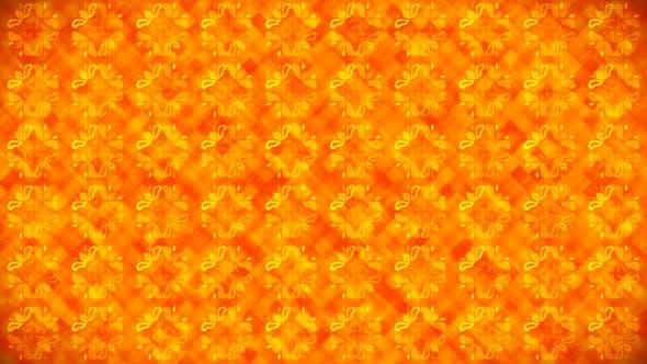 Broadcast rotierende Hi-Tech-Blumenmuster-Wand 02