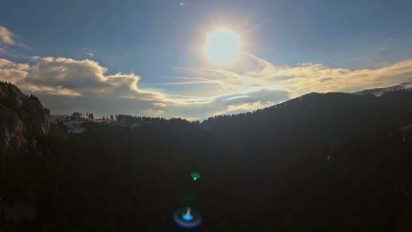 Thumbnail for Mountain Aerial Shot At Sunset