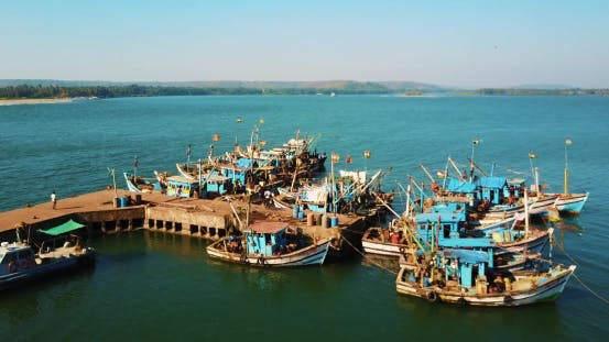 Thumbnail for Indian Fishing Port Boats
