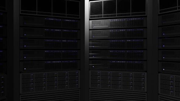 Thumbnail for Multiple Server Racks with Blinking Lamps