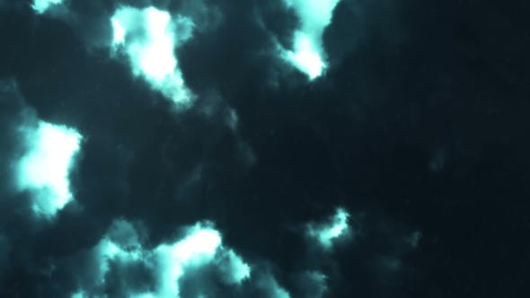 Thumbnail for Severe Thunderstorm Clouds at Night with Lightning