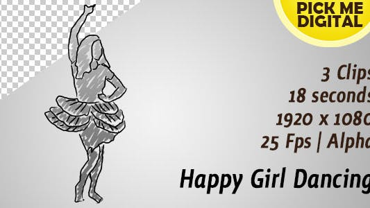 Thumbnail for Happy Girl Dancing