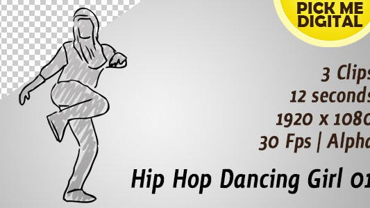Thumbnail for Hip Hop Dancing Girl 01