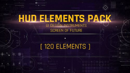 120 HUD UI Interface/ Screen of Future/ Text Placeholder/ Circles/ Markers/ Call-outs/ Line/ Sci-fi