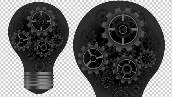 Thumbnail for Animated Light Bulb and Gears