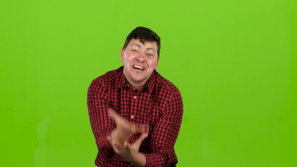 Thumbnail for Aggressive Man, He Is Angry at All and Can Not Be Stopped. Green Screen