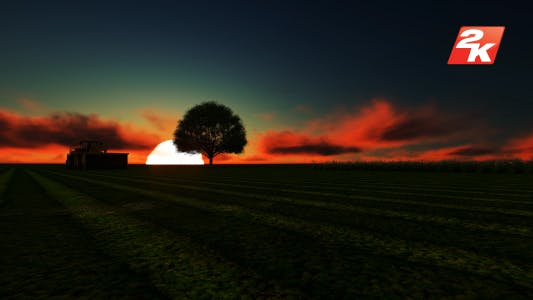 Thumbnail for Sunset Tractor On The Field