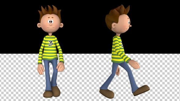 Thumbnail for Boy Toon Walking