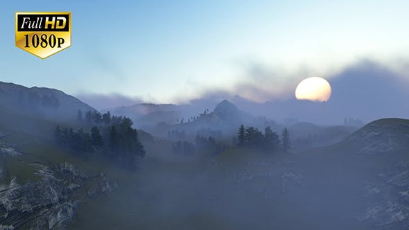Thumbnail for Fly Over Mountains During Sunset 2